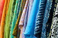 Sari for sales at the Mindil Beach Market in Darwin, in the Northern Territory of Australia