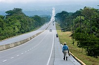 Honduras.Departament of Comayagua. Main paved road.