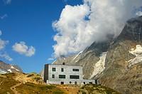 Mountain shelter Anenhuette, valley Loetschental, Valais, Switzerland