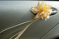 Door decoration wedding car