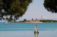 Italy, Venice, Poveglia island from Malamocco.