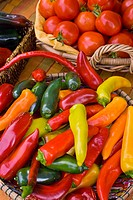 Organic locally grown produce at farmers´ market in Nevada City, California