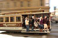 cable car on Powell Street, San Francisco, California, USA