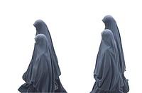 Turkey, Istanbul, Woman in Burkha