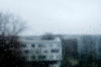 Drops of rain on a window