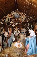 Italy, Lombardy, Crema, Sabbioni Christmas Crib