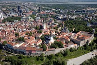 Aerial View of Old Medieval Tallinn in Estonia, Europe