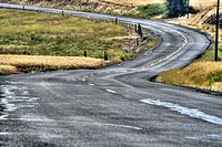 Country road in the Palouse WA State, USA