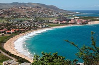 Panoramic view of the island of St Kitts