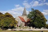 St Andrews parish church, Alfriston, East Sussex, England, UK