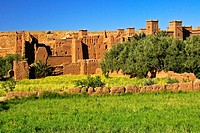 Kasbah of Aït Benhaddou, XVI Century, Atlas Mountains, Morocco, North Africa Africa