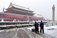 The Forbidden City in Winter  Beijing  China.