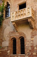 Verona, House and balcony of Giulietta, Casa Capuleti, Veneto, Italy