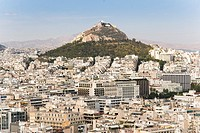 View from the Acropolis to the Lycabettus Mount, Athens, Greece