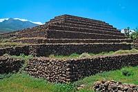 Guanche pyramid, Güímar, Tenerife, Canary Islands, Spain
