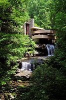 House on the water,Fallingwater,Pennsylvania,USA