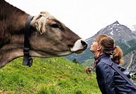 Close encounters, Saas Fee, canton Valais, Switzerland, Swiss Alps