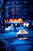 Taxi, Paris, France