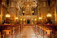 inside the church Hagia Sophia in Thessaloniki, Macedonia, Greece