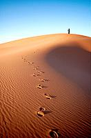 People at the dunes of the Moroccan Sahara