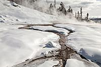 Hot Spring, Winter, Upper Geyser Basin, Yellowstone NP, WY