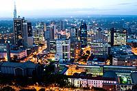Aerial view of city at night looking north nairobi kenya