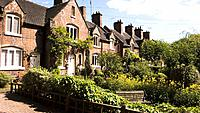 Victorian cottages with garden in Sandbach, Cheshire, England, UK