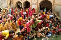 India Jaipur Galta Temple festival.