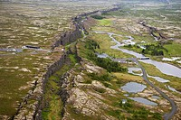 Mid-Atlantic Ridge Fault Line, Thingvellir National Park, Iceland