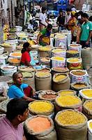 Market at Chandni Chowk in Old Delhi