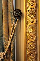 The decoration details of Le Grand Salon in Shangri-La Hotel Paris  Paris  France.