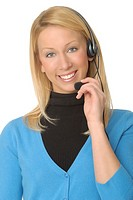 Attractive Female Telephone Operator or Customer Service