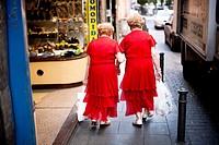 Twins in Madrid, Europe, Spain