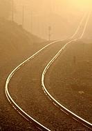 Railroad, Sierra de San Pedro, Cáceres province, Extremadura, Spain