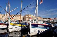 France, St.Tropez, port boats