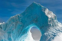Natural Arch carved in an iceberg, Antarctic Sound, Antarctic Peninsula