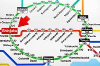 Asia, Japan, Tokyo, Train Map, Tokyo Railway Map, JR, Japan Railways, Yamanote Line, Map, Maps, Tokyo Map