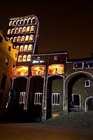 Lighting in King´s square - Plaça del Rei - during the Santa Eulalia celebration in Barcelona, Spain