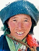 portrait of tibetan woman