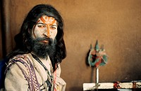 Hindu ascetic, sadhu. From Rajasthan, India.