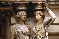 Austria, Vienna, Inner City, Statuary at the Hofburg Palace