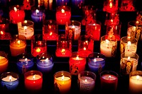 Candles in the Cathedral of Sarlat France.
