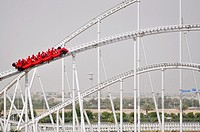 Abu Dhabi, United Arab Emirates: 'Formula Rossa' roller coaster at Ferrari World Abu Dhabi, Yas Island
