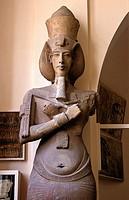 Statue of Pharaoh Akhenaten, 14th century BC, Museum of Egyptian Antiquities, Cairo, Egypt,