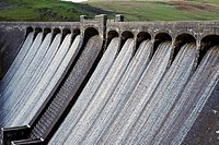 Claerwen Dam, Elan Valley, Mid Wales, UK
