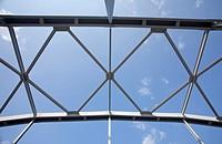 Riveted steel girders, used in a bridge support structure  Location Kivisalmi Rautalampi Finland Scandinavia Europe