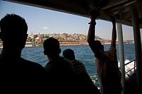 tourists Bosphorus sailing