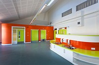 Primary school classroom unoccupied Newlands Primary School Southampton