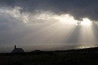 They chapel dedicated to Saint, situated at the point of Van common Cleden-Cap-Sizun, Finistere, Brittany, France