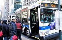 New York City Public Transportation M4 Bus, Manhattan, New York City, USA
